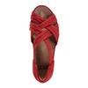 Ficus Gemini Soft Leather Sandal - Wide~Bright Red*602861WWBCK