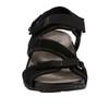 Sand Nevis Nubuck Leather Sandal~Black*602913WBCK