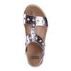 Grove Fuji Metallic Leather Sandal~602958WMET