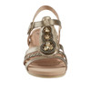 Pisa Falmouth Metallic Leather Sandal~602968WMET