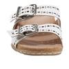 Sand Havana Leather Slide Sandal~602974WLEA
