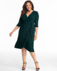 Kiyonna Women's Plus Size Whimsy Wrap Dress~Green*11122201