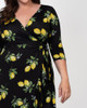 Kiyonna Women's Plus Size Flirty Flounce Wrap Dress~12132207