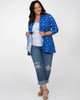 Kiyonna Women's Plus Size Lori Printed Bellini Cardigan~Blue/White*21182201