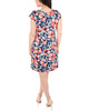 Cap Sleeve Printed Shift Dress~Navy Blossomflor*MITD4000