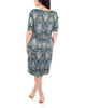 Draped Printed Shift Dress~Navy Medalthrone*MITD3994