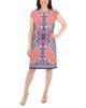 Cap Sleeve Printed Shift Dress~Orange Mirrorpais*MITD3991