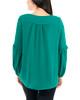 Long Ruffle Sleeve V Neck Top~Alpinegreen*MPDU0146