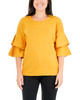 Double Flounce 3/4 Dolman Sleeve Sweater~Autumn Yellow*MSOU0865