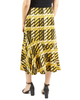 Plaid Diagonal Seam A-Line Skirt~Gold Lucaplad*MITK0815
