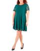 Plus Size Lace Panel Dress~Green Gracelace*WLAD0264
