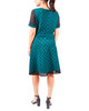 Polka Dot Mesh Flare Dress~Green Meshdotduo*MNKD0416