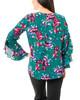 Long Floral Ruffle Sleeve Top~Green Petalbundle*MDOU1745