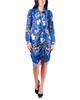Floral Side Tie Shirt Dress~Navy Fenfleur*MITD3625