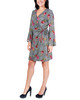 Petite Plaid Bell Sleeve Wrap Dress~Noir Floraplaid*PHAD0026
