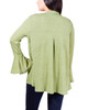 Chevron-Back Bell Sleeve Cardigan~Olive Tree*MKWR0274