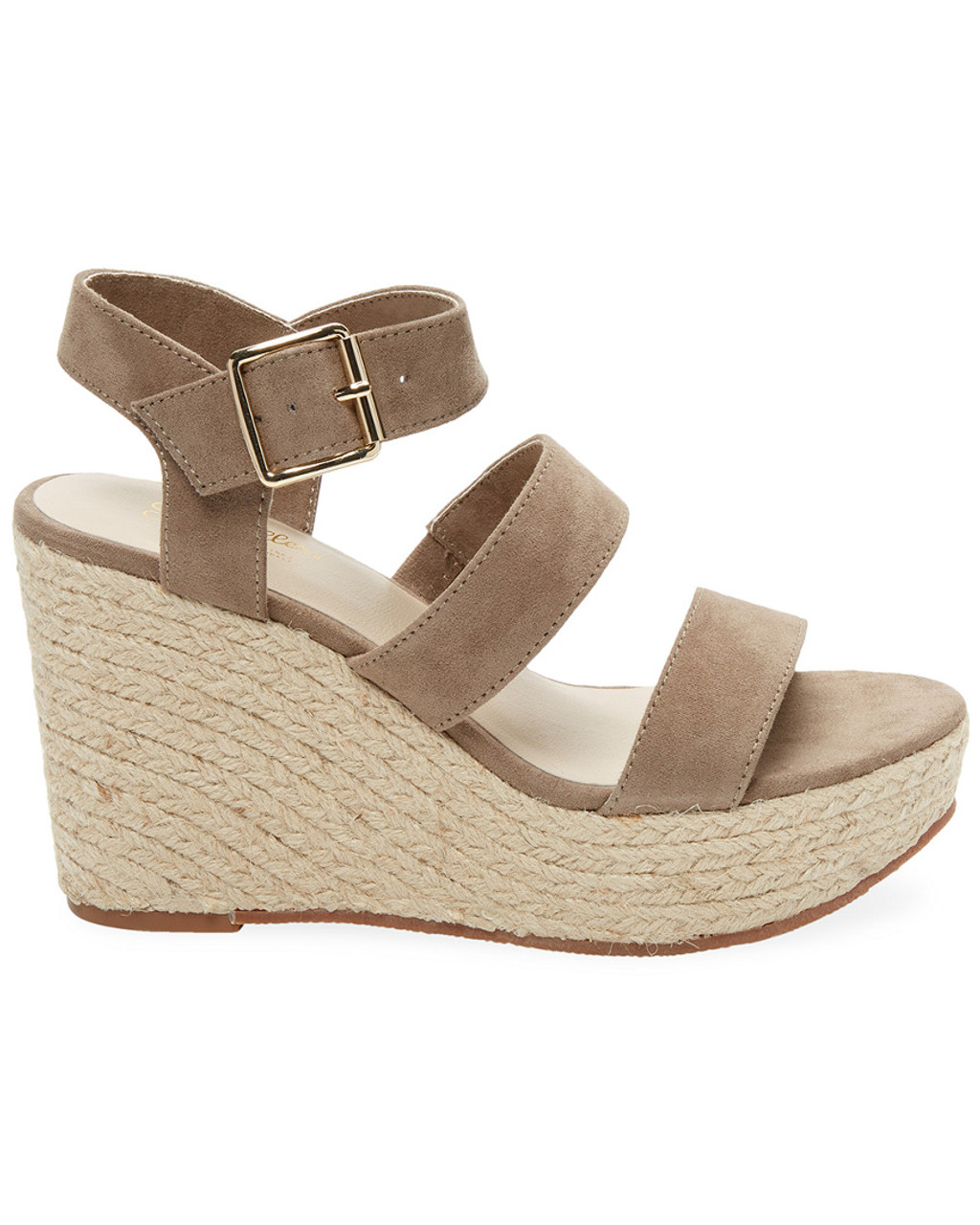 0391792098 Seychelles Suede Banded Wedge Sandal~1311801551 - Carsons
