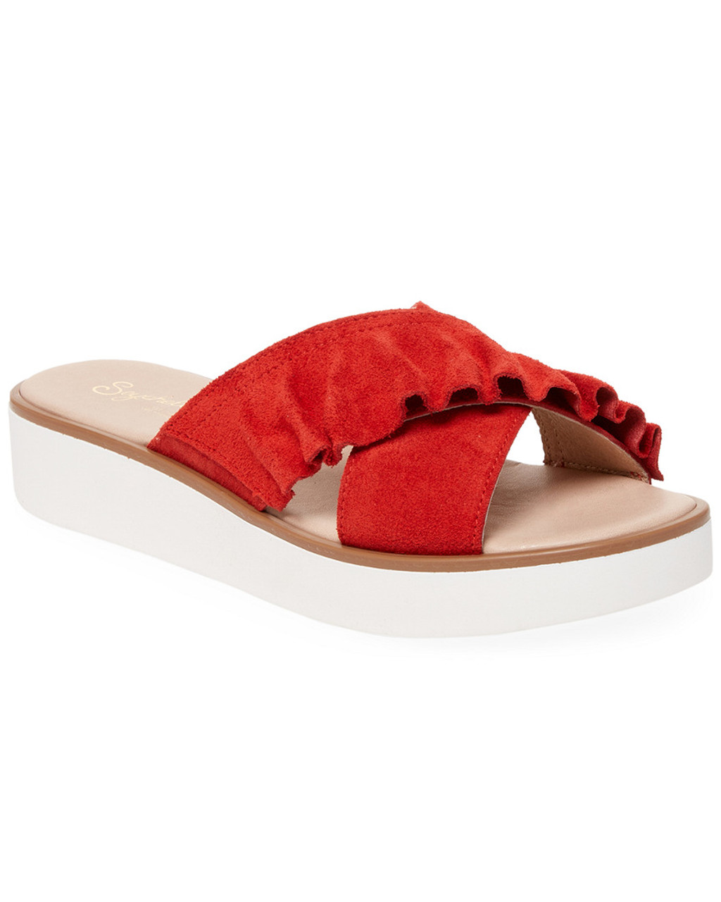 411fcb48ff Seychelles Suede Ruffle Slide~1311801559 - Bon-Ton