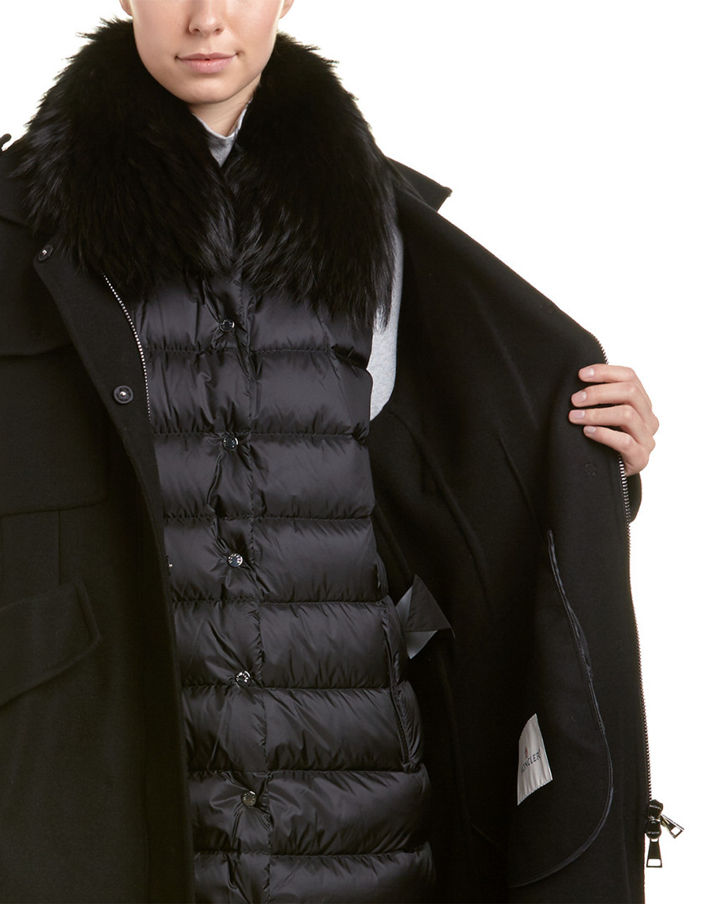 aaad1c398 Moncler Philliera Wool   Cashmere-Blend Coat~1411583388 - Herbergers