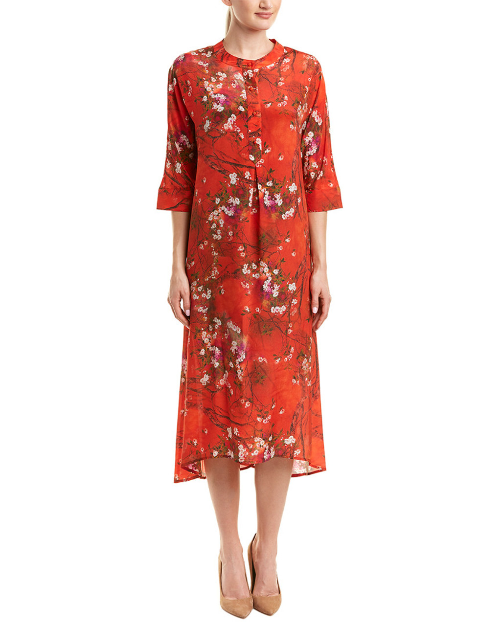 ... POKWAI Silk Shift Dress~1411939892