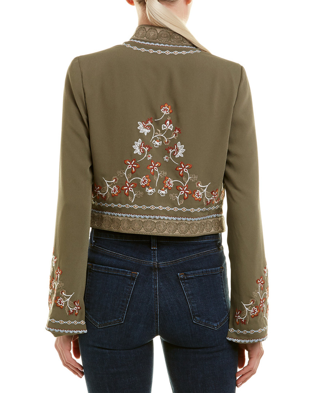 b98297ecbf BCBGMAXAZRIA Embroidered Crop Jacket~1411893970 - Younkers