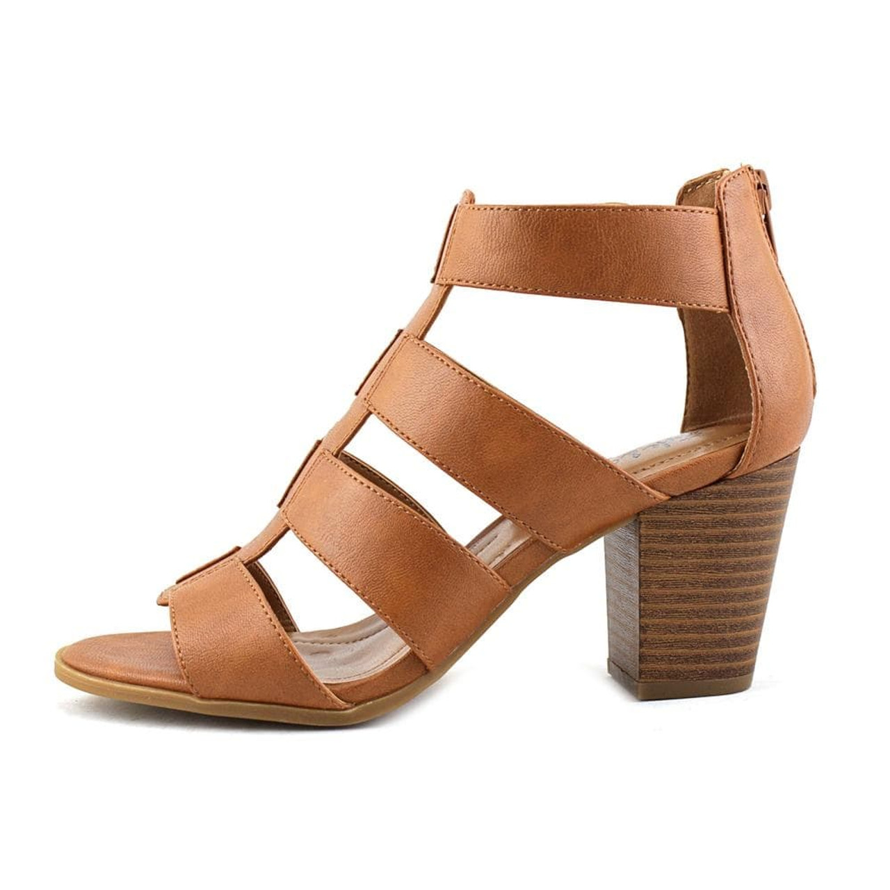 546e32ba84e11 Style & Co. Womens janinaa Leather Open Toe Casual Strappy  Sandals~pp-15088402