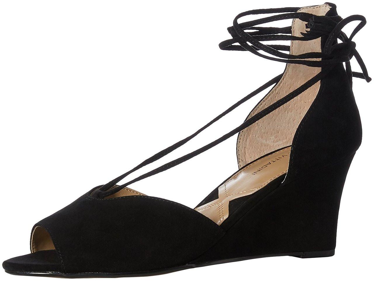 ffb0378b7cf ... Adrienne Vittadini Womens Marcey Suede Peep Toe Casual Platform Sandals ~pp-29dd2a50