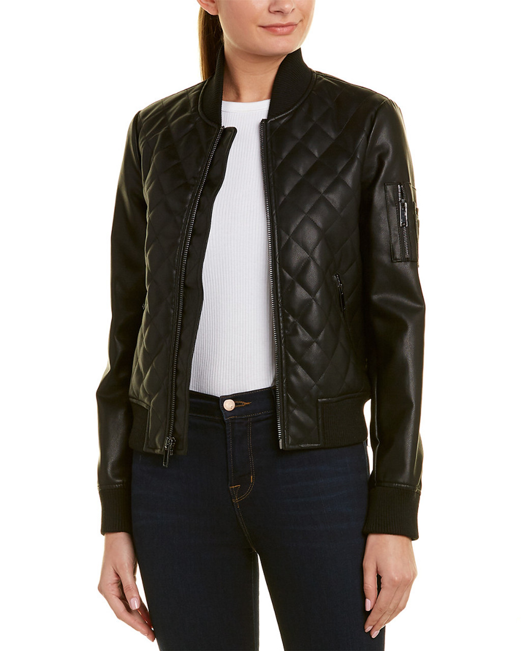 ee9083793 French Connection Diamond Quilted Bomber Jacket~1411778710