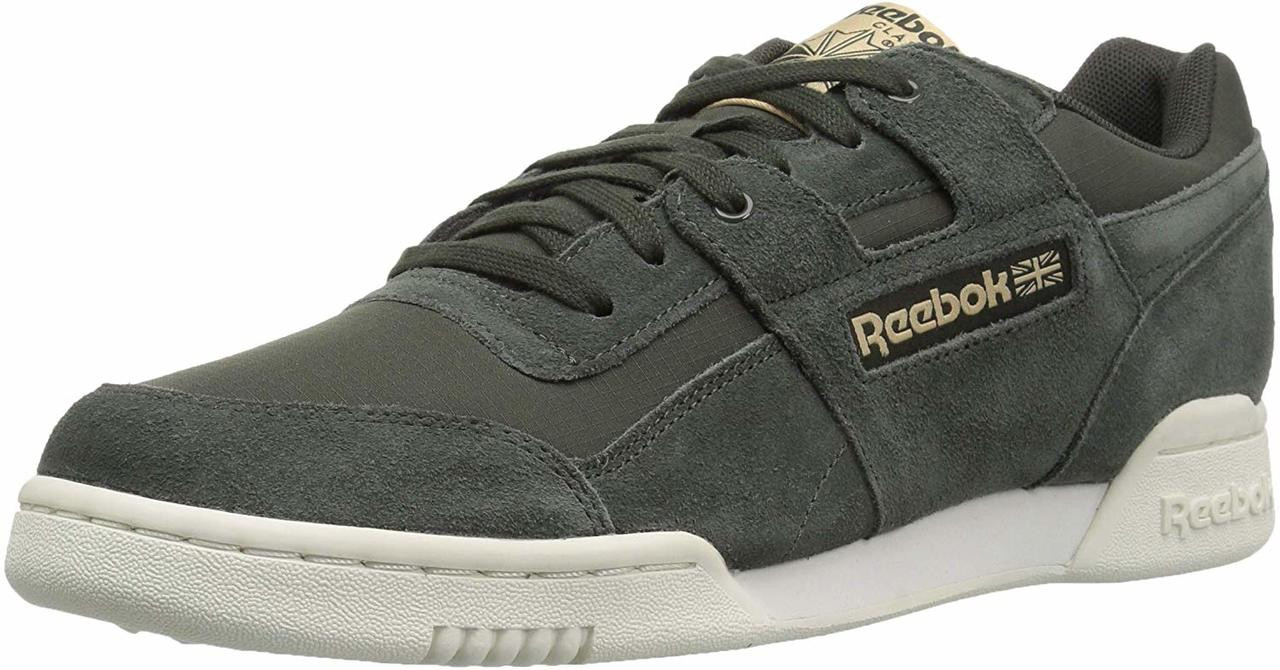 8f79fd16153ed1 ... Reebok Mens Workout Plus Leather Low Top Lace Up Fashion Sneakers ~pp-27d2b008