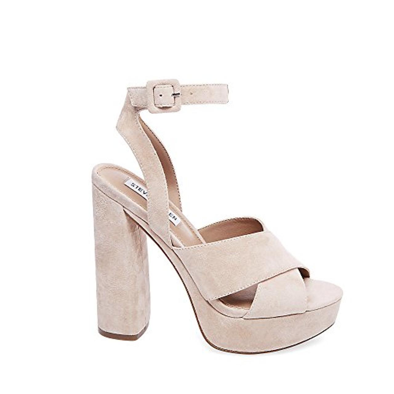 6ad7b5e22a2e3 ... Steve Madden Womens Jodi Leather Open Toe Formal Ankle Strap  Sandals~pp-7ce2b359 ...