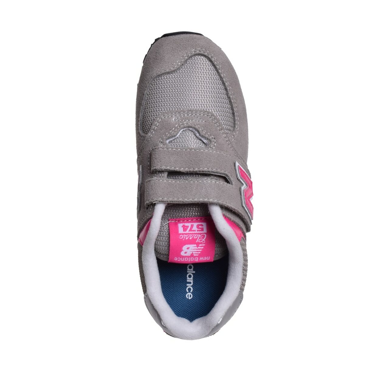 b8dafe235681d ... Kids New Balance Girls Classic 574 Leather Low Top Velcro Running  Sneaker~pp-9106dc53 ...