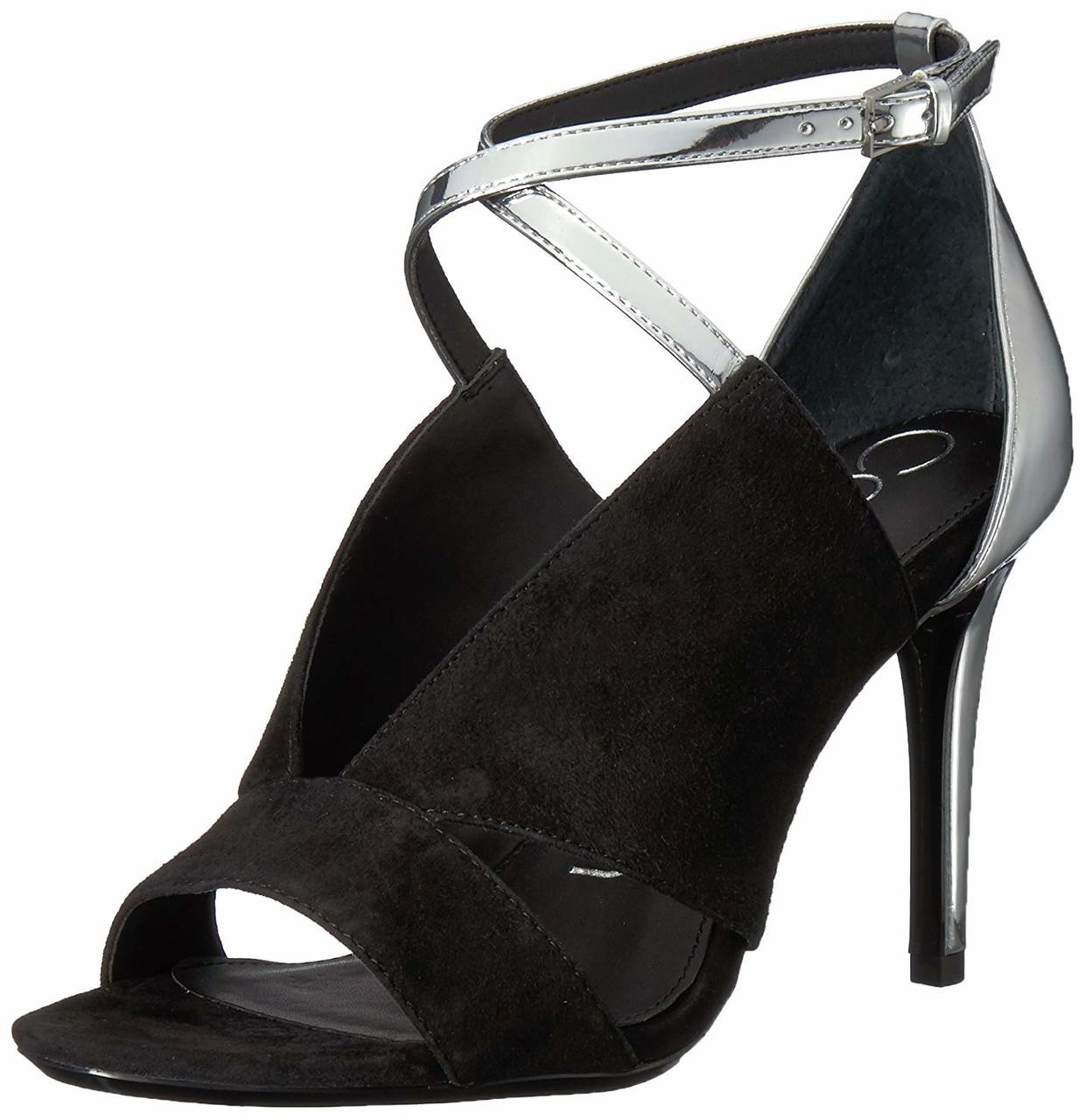 cheap for discount 147da 3ff23 Calvin Klein Womens Nevah Leather Open Toe Ankle Strap Classic  Pumps~pp-fa3b3a1f