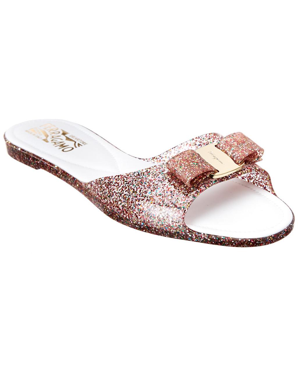 Salvatore Ferragamo Cirella Vara Glitter Jelly Slide Sandal 1313258352