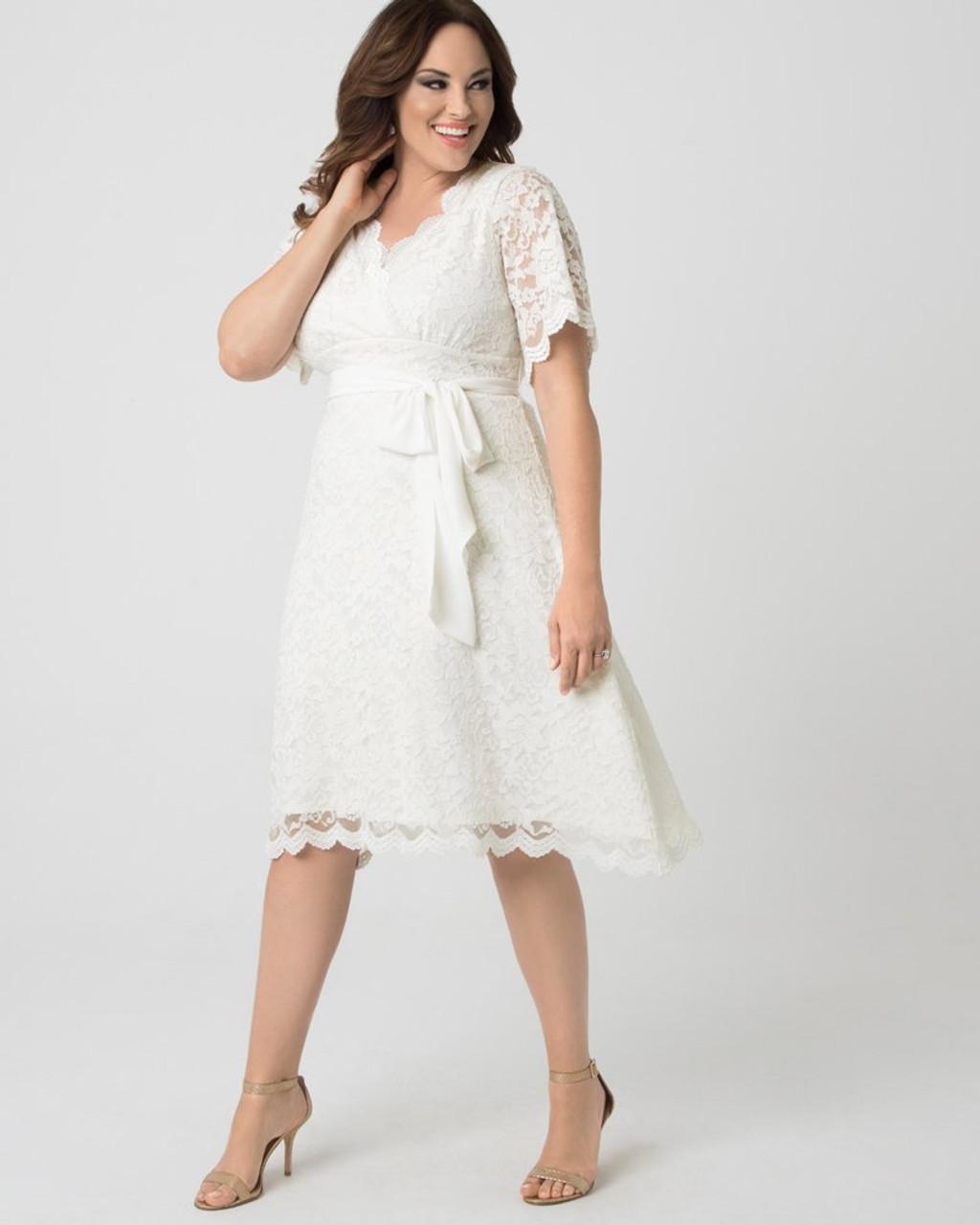 Kiyonna Women\'s Plus Size Graced With Love Wedding Dress~19170901-IVY