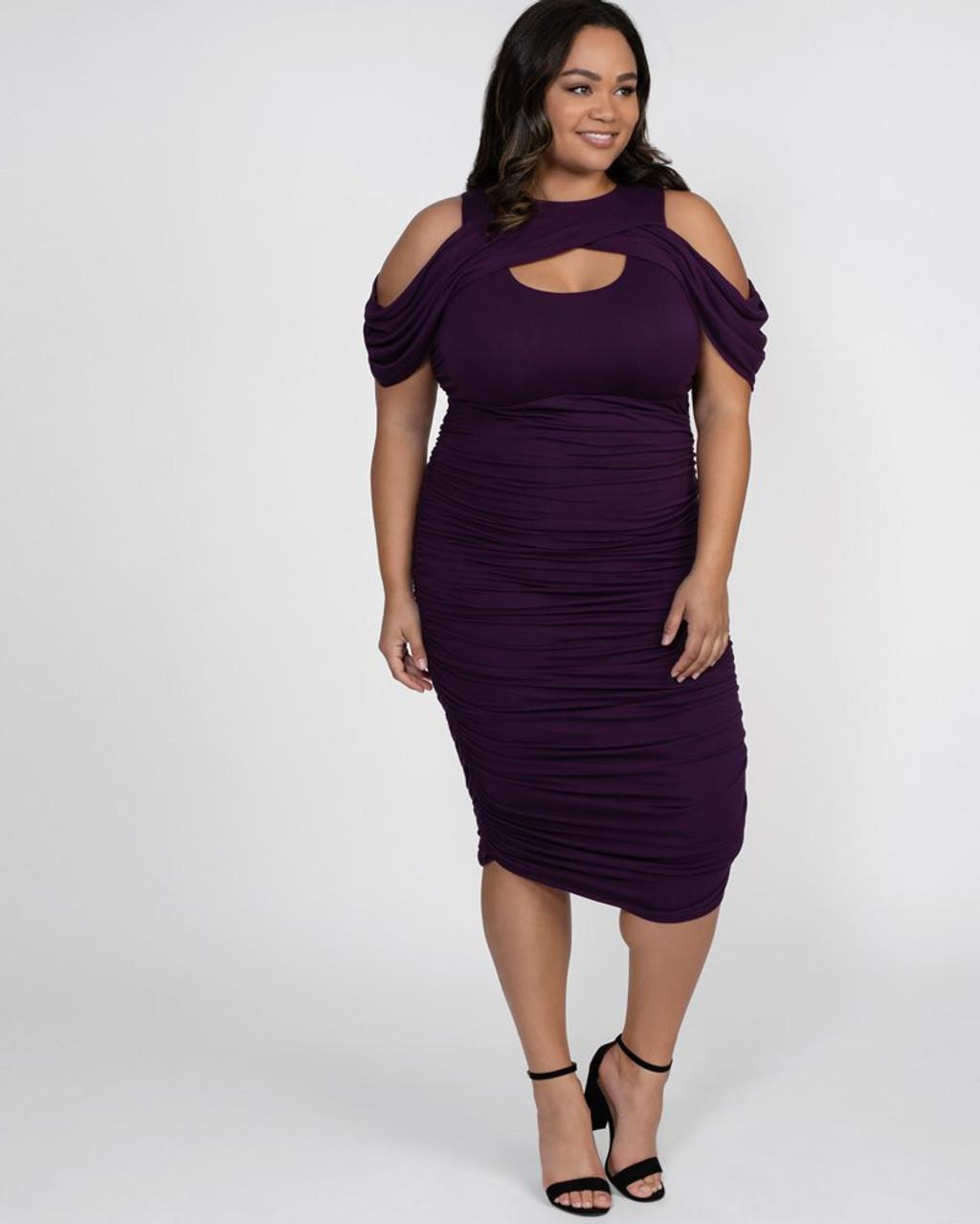 Plus Size Ruched Dresses