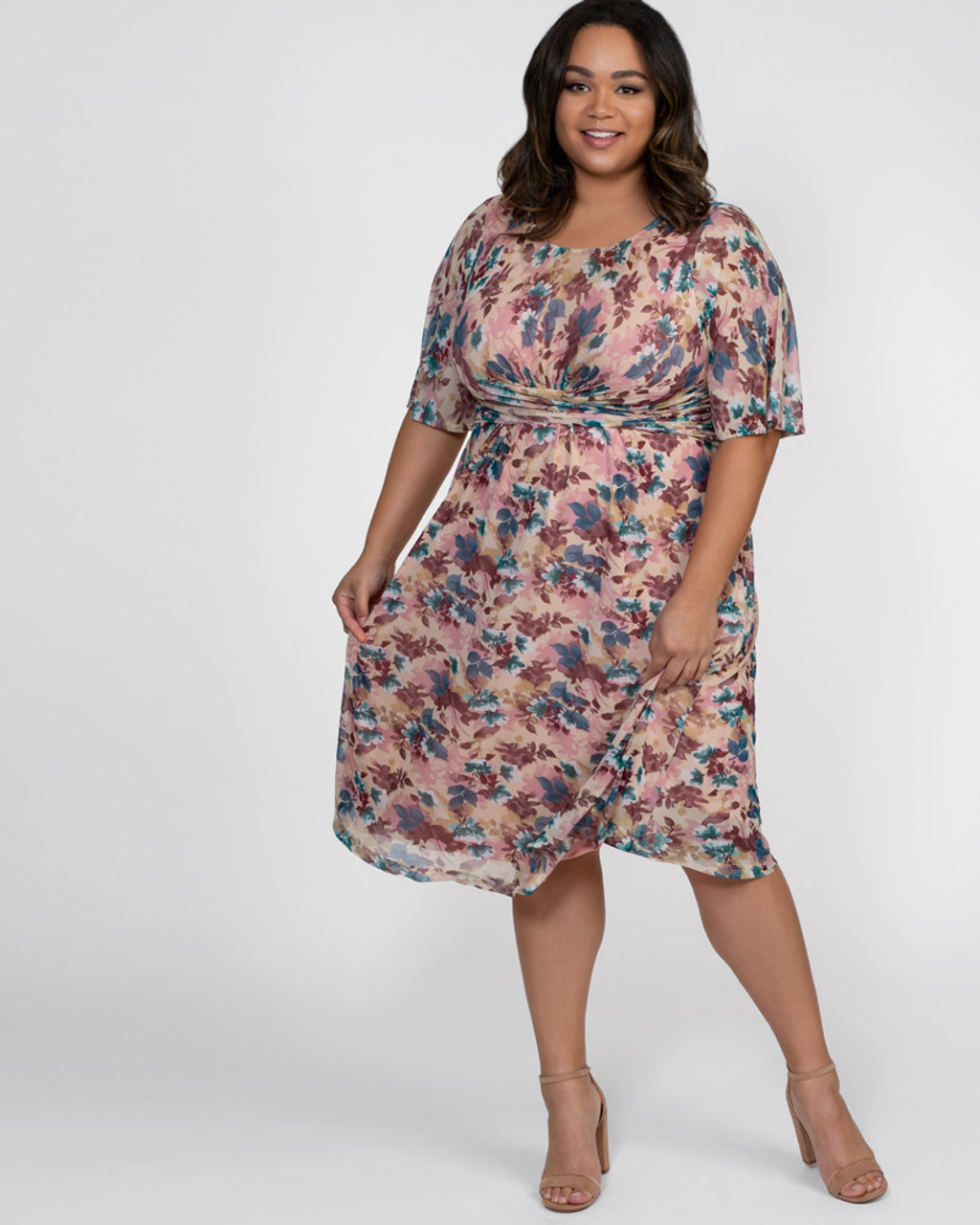 Kiyonna Women\'s Plus Size Katarina Mesh Dress~11182504-PFP