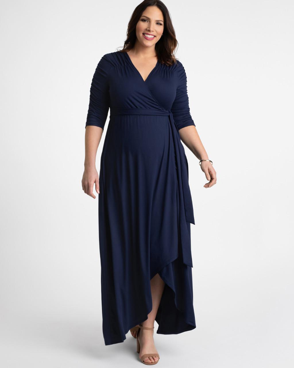 Kiyonna Women\'s Plus Size Meadow Dream Maxi Dress~Blue/Navy*13172209