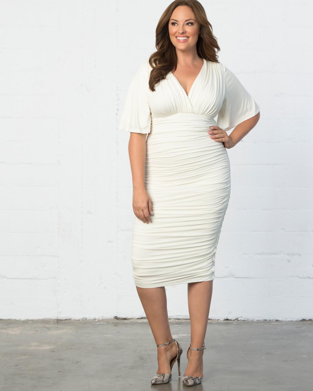 Kiyonna Women\'s Plus Size Paloma Ruched Dress~13181811