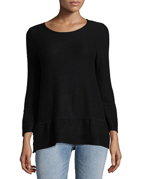 76b2fac5f9f9d4 Saks Fifth Avenue Pique Ribbed Sweatshirt~1010830132 - Carsons