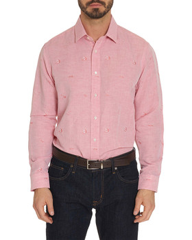 de9eb720465 Robert Graham Roland Linen-Blend Classic Fit Woven Shirt