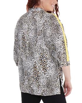 4cf10f85a8ff2 Plus Size High-Low Slit Hem Button Up Blouse~Cream Fallcat WDOB0576