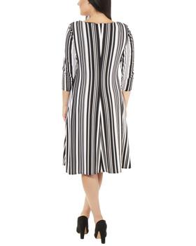 d3e4382828 Striped Cross Ruching Dress~Black Charbia MITD3686