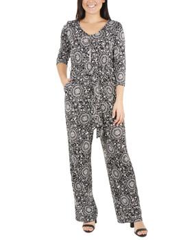 377bc90486eb Create New Wish List · Floral Zipper Front Jumpsuit~Black ...