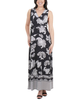 66541e7224 Create New Wish List · Wrap Front Maxi Dress with Hardware Belt ...