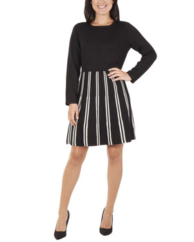 df510f88ab Long Sleeve Solid Striped Dress~Isabella MSVD0408