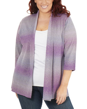 f4711b0ffd3 Plus Size 3 4 Sleeve Ombre Open Front Cardigan~Tanya WSVR1190