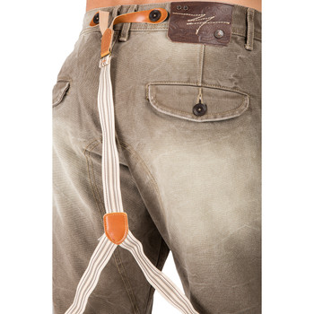 dabce4a739b Level 7 Men's Relaxed Straight Premium Canvas Welder Distressed Jeans with  Suspender Panel Pocket~LV136531