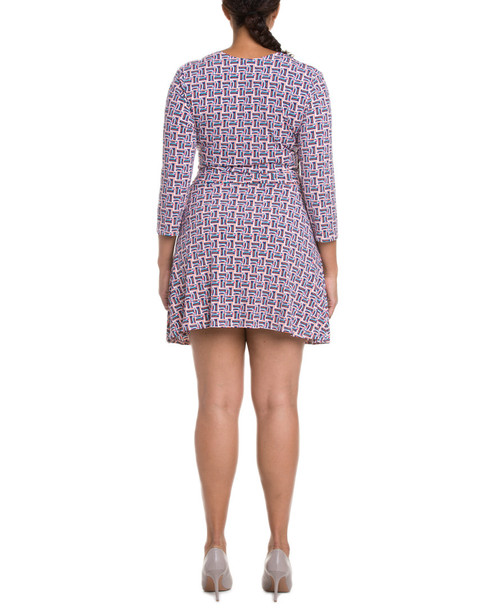 Leota Plus Perfect Wrap Mini-Matte Jersey Dress~1050760667