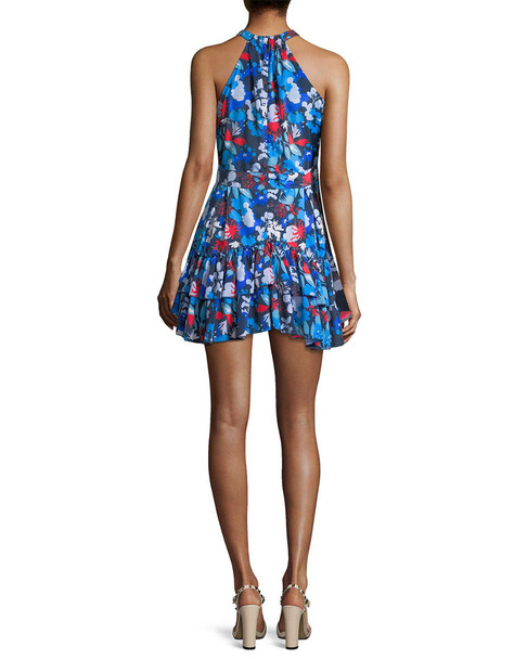 ALEX+ALEX Floral Halter Mini Dress~1050772490