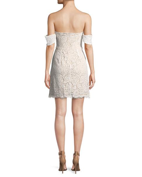 ALEX+ALEX Off-the-Shoulder Lace Mini Dress~1050775438